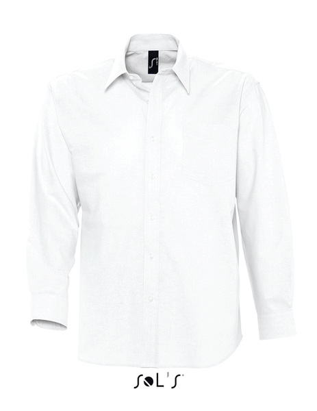 Camisa BOSTON Blanca Manga Larga Hombre