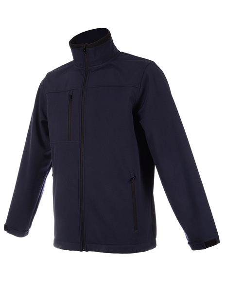 Cazadora SOFT-SHELL marino navy transpirable 2000mvp e impermeable 5000mm
