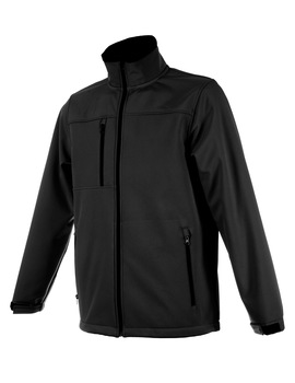 Cazadora SOFT-SHELL negro transpirable 2000mvp e impermeable 5000mm