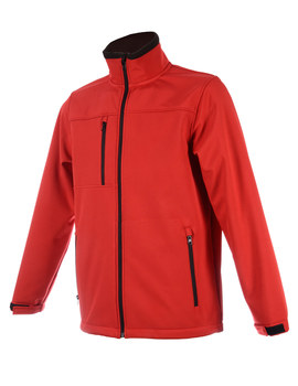 Cazadora SOFT-SHELL rojo cereza navy transpirable 2000mvp e impermeable 5000mm