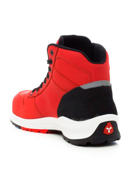 Bota GET FORCE MID S3 roja moderna y flexible