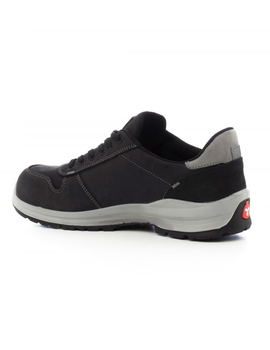 Zapato GET FORCE LOW S1P nobuck negro flexible y ergonómico