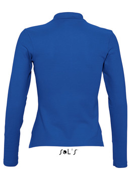 Polo Mujer Podium Manga Larga color Azul Royal