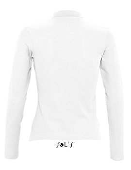Polo Mujer Podium Manga Larga color Blanco