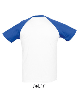 Camiseta Bicolor FUNKY de hombre Color Blanco + Royal