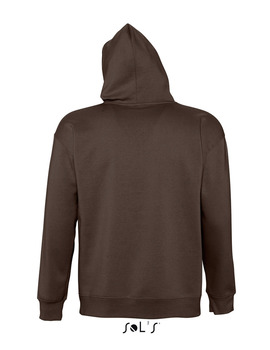 Sudadera Unisex con Capucha SLAM color Chocolate