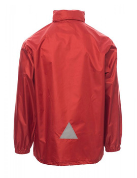 Chaqueta Impermeable Unisex modelo WIND color Rojo