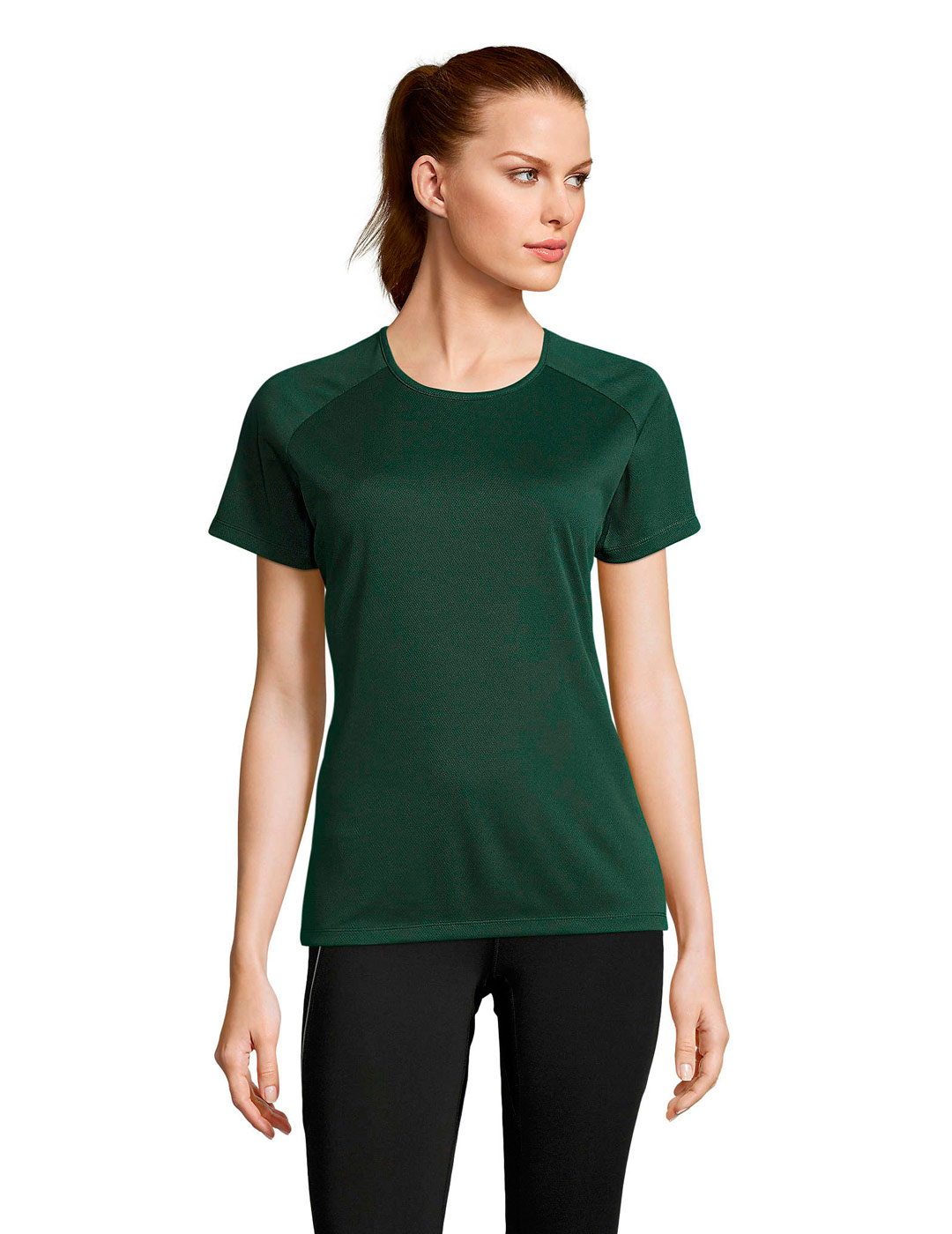 Sporty mujer verde bosque 1